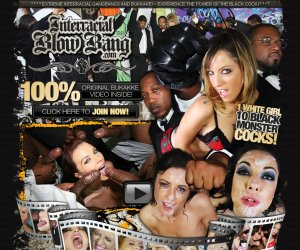 INTERRACIAL BLOW BANG - Extreme Interracial Gangbangs and Bukkake!