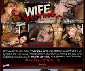 WifeWriting.com - White Slut Wives Who Love Black Cock Interracial Sex