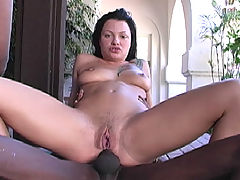 Pornstar Belladonna interracial gangbang DP