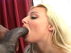 Giant ebony cock tears up this horny white MILFs pussy