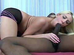A pole smoking white girl gets ass fucked by a black man