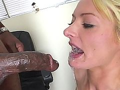 Naughy housewife takes a massive black pekcer up her ass