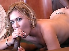 Nadia doesn't need much of an introduction. She's a blonde fucktoy whose body was built for the black man and the black man ONLY! She spends