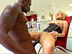 Sophie Dee, a busty British girl, is warming up on a dildo. Lex will come to feed her the real thing: his eleven inches of love. Sophie will suck it v