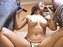 Black cock action with brunette babe Maria Bellucci