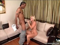 Amber Lynn has a bangin body! When there was a knock at the door she didnt expect a black man.
