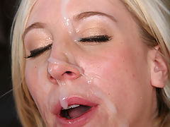 Young blond in interracial anal DP threesome