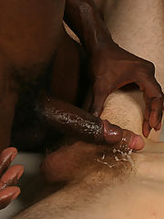 Interracial gay blowjobs buttfucking cumshot