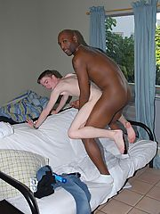 Twink does interracial blowjob assfucking handjob