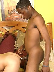 Young interracial gay couple blowjob assfuck jerk