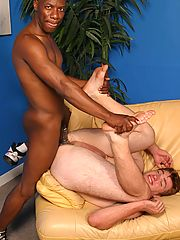 Young gay interracial duo rimjob blow & buttfuck
