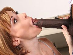 Boss lady fucks and sucks black worker INTERRACIAL