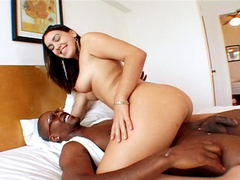 Slutty Latina Meagan gets banged hard by Justin Slayer and his huge dick