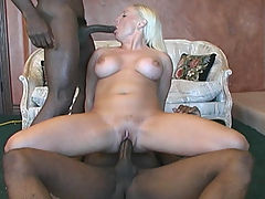 Cali Cox in an interracial threesome