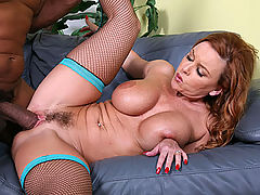 Cougar Janet Mason gets a giant black dick