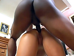 Barbie fits a black dick in her butthole