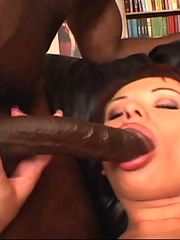 Tight pink spoiled by black meaty stuffed inside