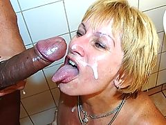 This blonde mom loves that black cock