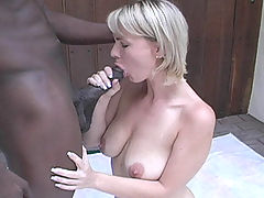 Czech blonde interracial gangbang & cumeating